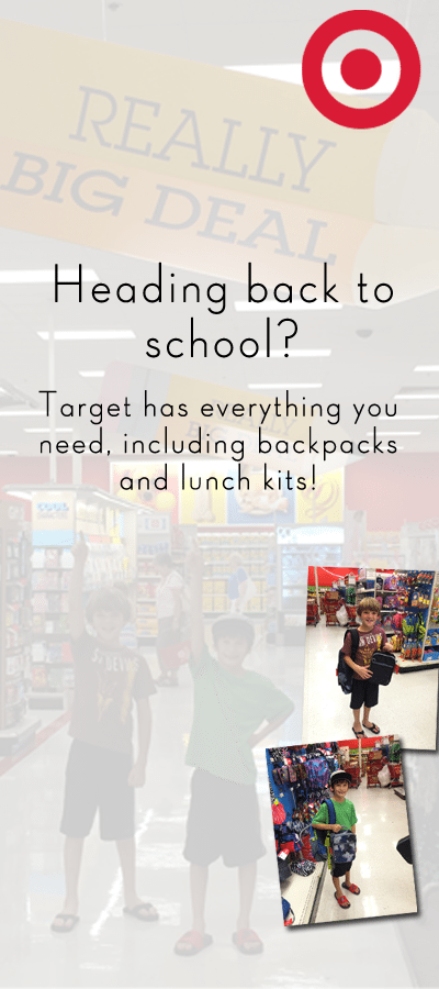 Target Backpacks and Lunch Kits for Back to School