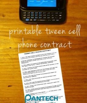 Printable Tween Cell Phone Contract