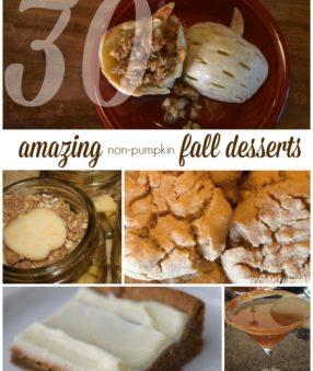 30 Fall Desserts (that aren't pumpkin!)