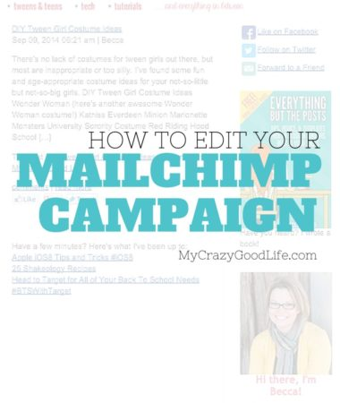 How to edit a MailChimp campaign