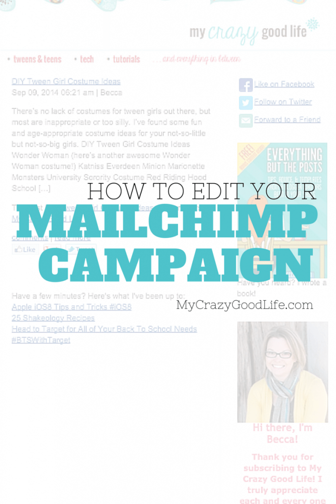 How to: Edit a MailChimp Campaign