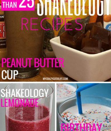 More than 25 Shakeology Recipes