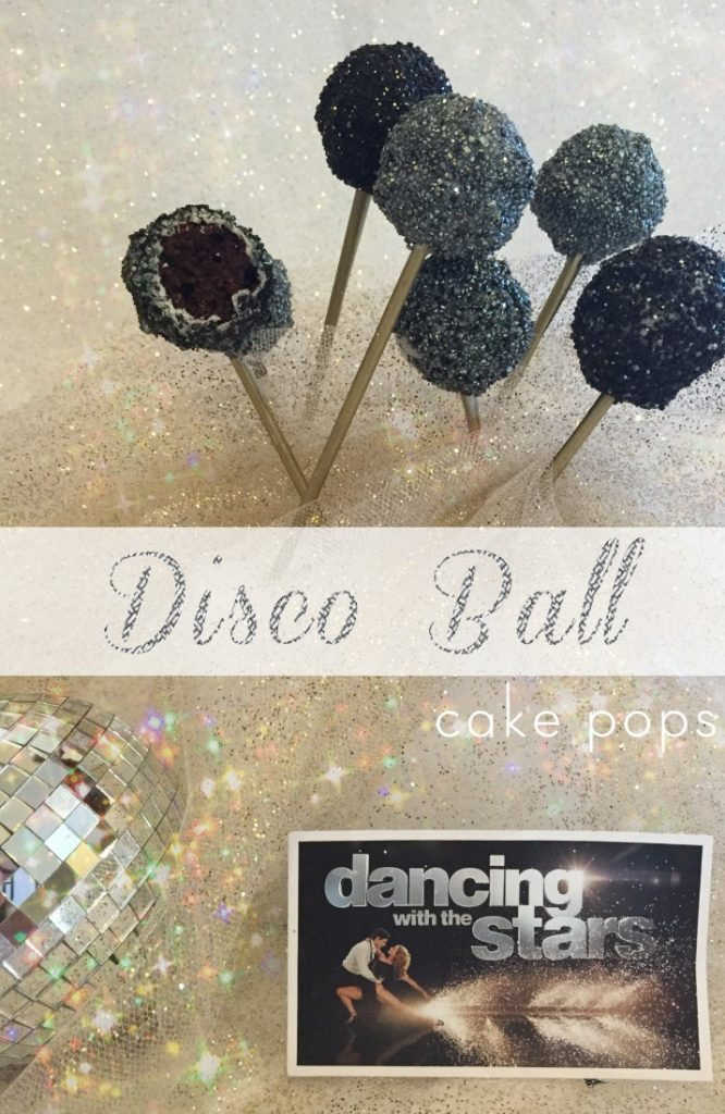 Disco Ball Cake Pops for a #DWTS party!