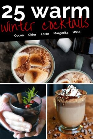 These warm winter drinks with alcohol are the perfect thing to warm you up! Warm cocktail recipes are just what you need this winter.