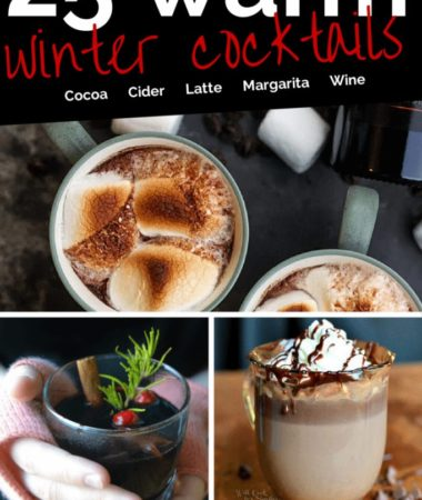 These warm winter drinks with alcohol are the perfect thing to warm you up! Warm cocktail recipes are just what you need this winter. Boozy Hot Chocolate | Warm Cocktails | Alcoholic Hot Drinks