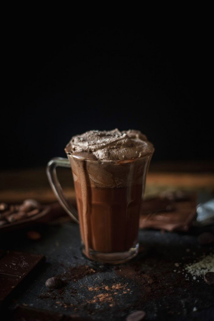 Melted Hot Chocolate with Sea Salt Whipped Cream