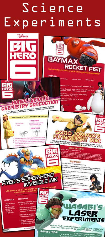 Big Hero 6 Science Experiments