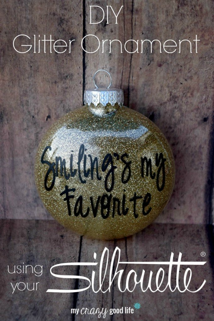 DIY Glitter Ornament using your Silhouette