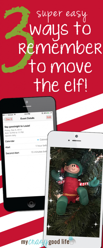 Forgot to move the elf? It happens to the best of us. Here are three ways to help remember to move your Elf on the Shelf! No more panic when you forgot to move the elf. You can remember to move the elf with these three easy tips! Elf on the Shelf Tips | Elf on the Shelf Reminders | Forgot to Move the Elf | Forgot to Move the Elf on The Shelf