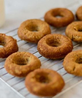 blender donuts on a cooling rack