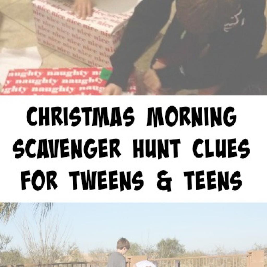 Christmas Gift Scavenger Hunt Riddles: Christmas Morning Scavenger Hunt Clues For Tweens And Teens