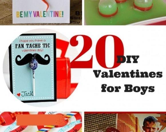 20 DIY Valentines for Boys