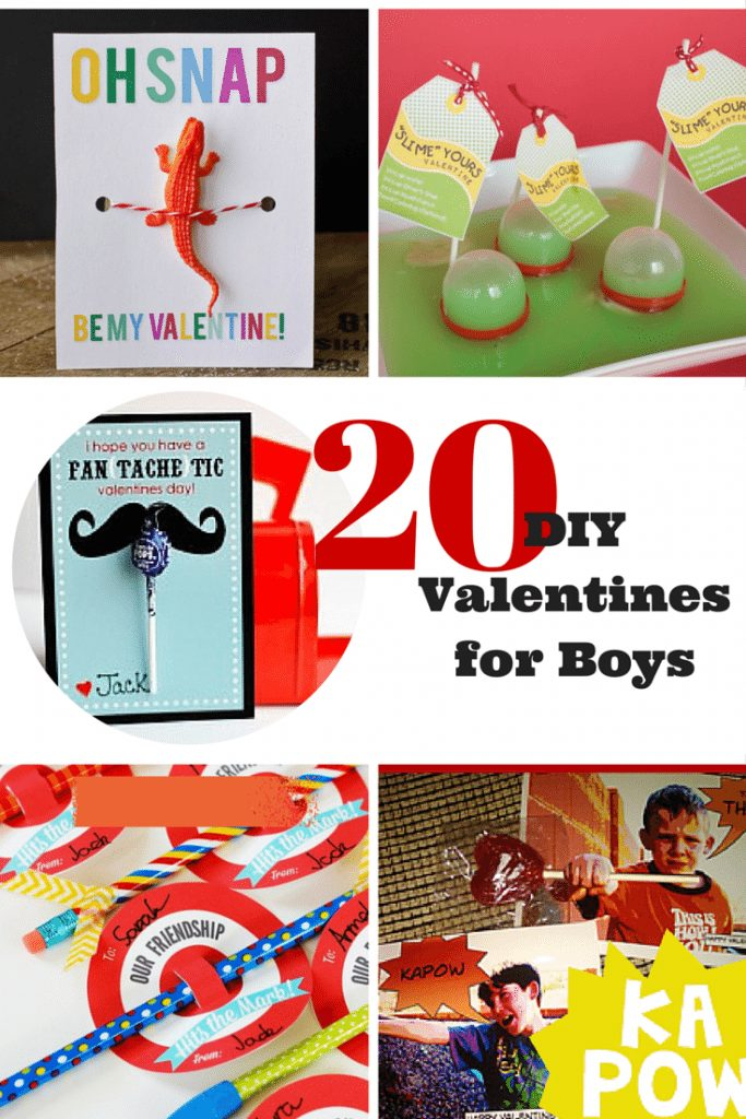 20 DIY Valentines for Boys