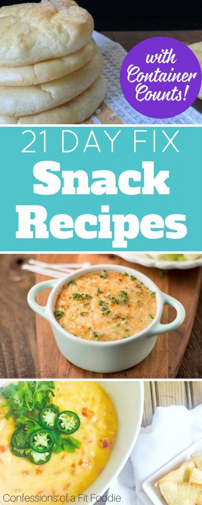 These 21 Day Fix snack ideas are filling and nutritious! Finding snacks on the 21 Day Fix isn't always easy, and I find myself turning the the same things every day. This list can help! #21dayfix #snackideas #snackrecipes #beachbody