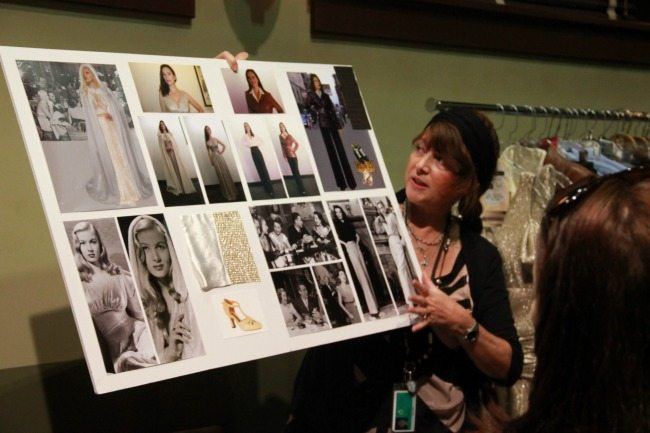 Gigi Melton holds idea board for Agent Carter costumes