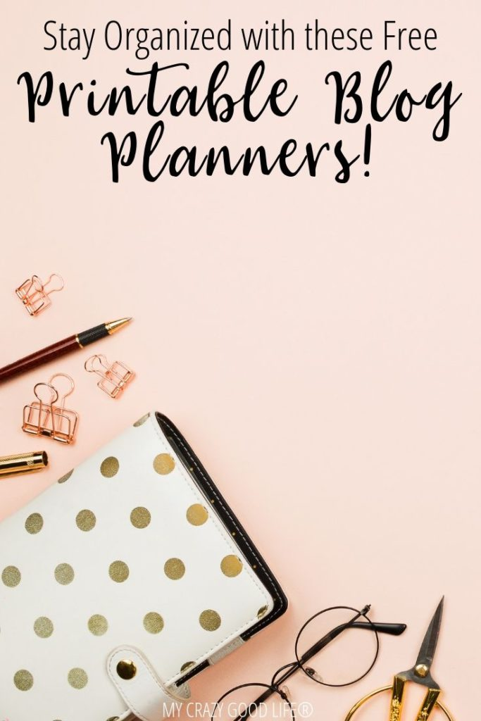 pin for printable blog planners