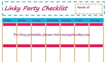 Linky Party Checklist