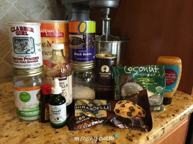 Coconut Brownie Ingredients