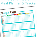 Free Printable 21 Day Fix Meal Tracker