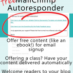 How to set up your free MailChimp Autoresponder