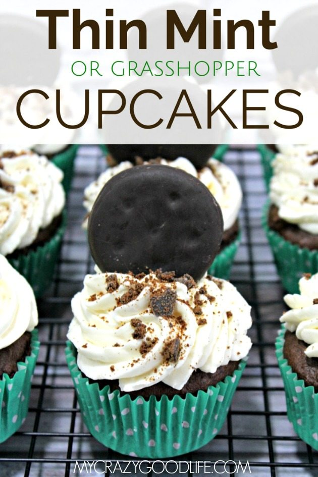 Thin Mint (or Grasshopper) Chocolate Cupcake Recipe
