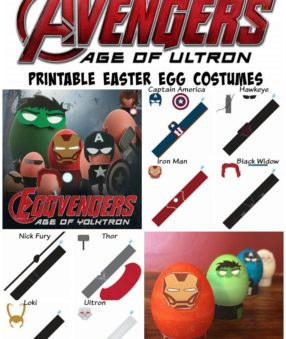 Print these fun and free Avengers Easter Egg Costumes today!