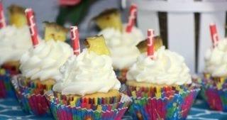 Pineapple Dole Whip Cupcake Recipe