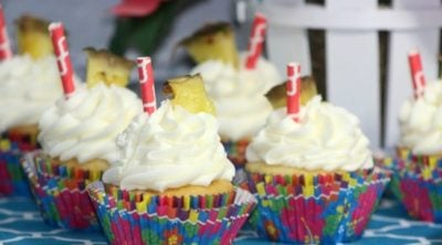 Pineapple Dole Whip Cupcake Recipe