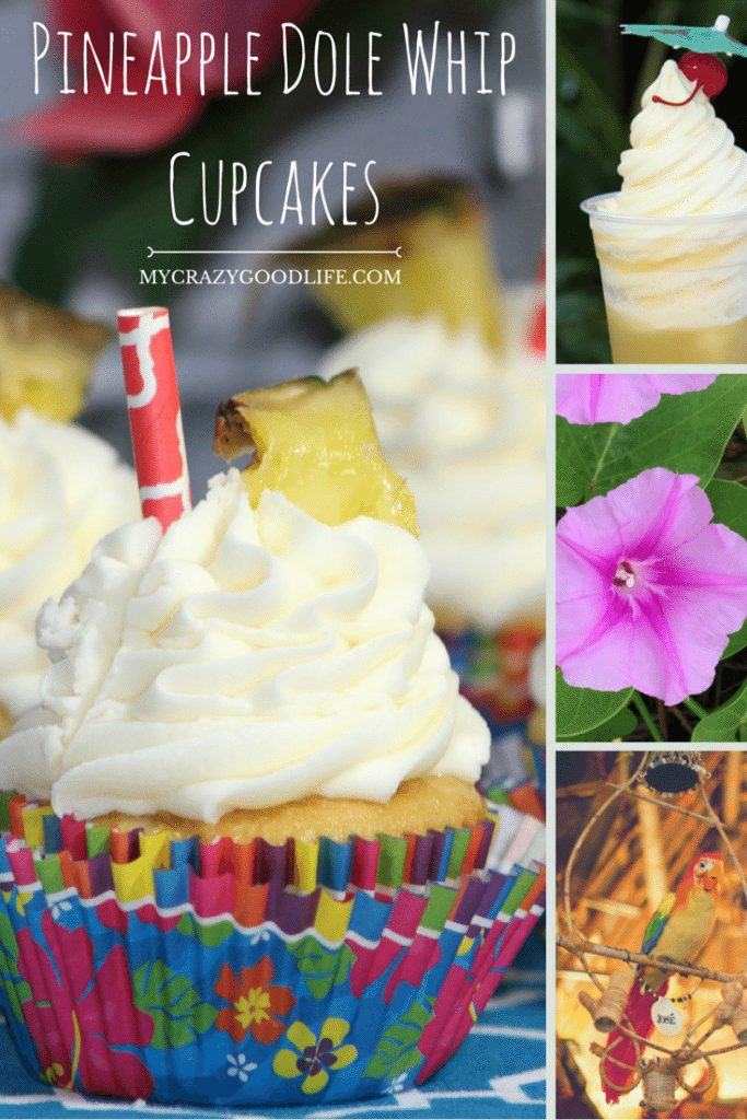 Pineapple Dole Whip Cupcakes | My Crazy Good Life