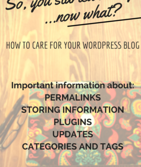 How to care for your Wordpress Blog
