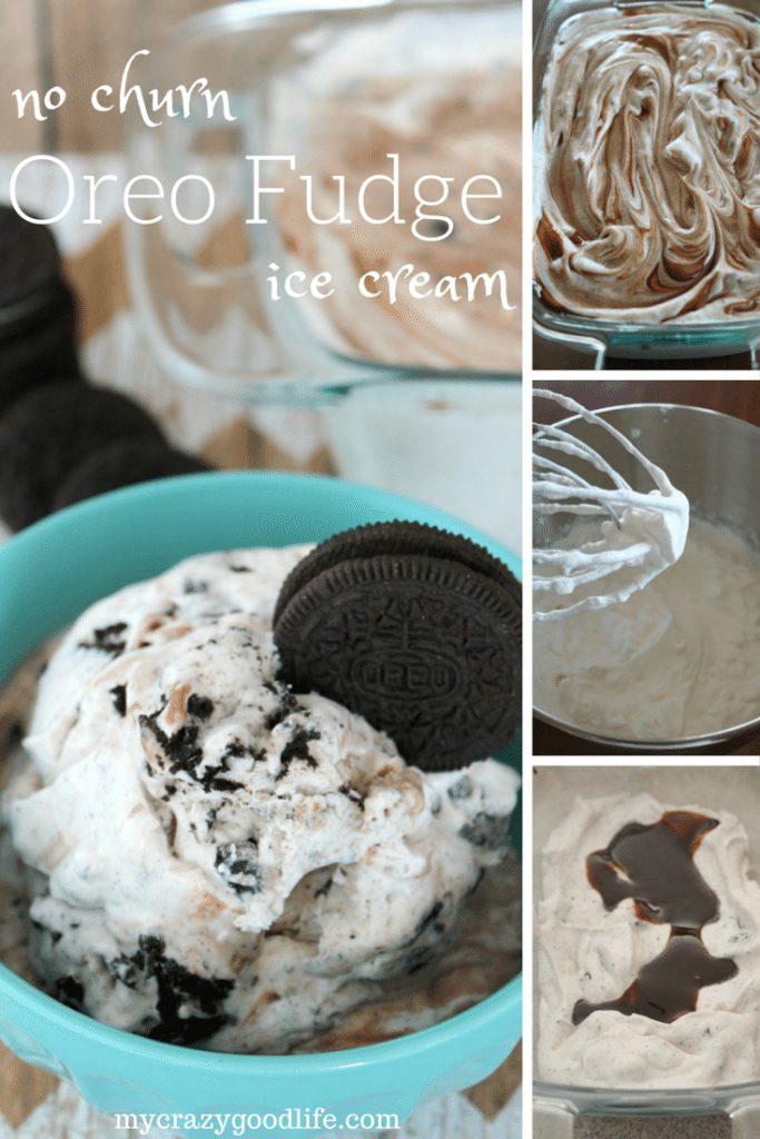 Oreo Fudge no churn ice cream recipe