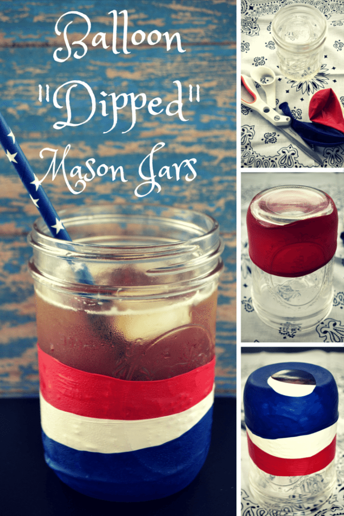 Easy DIY Balloon Dipped Mason Jars