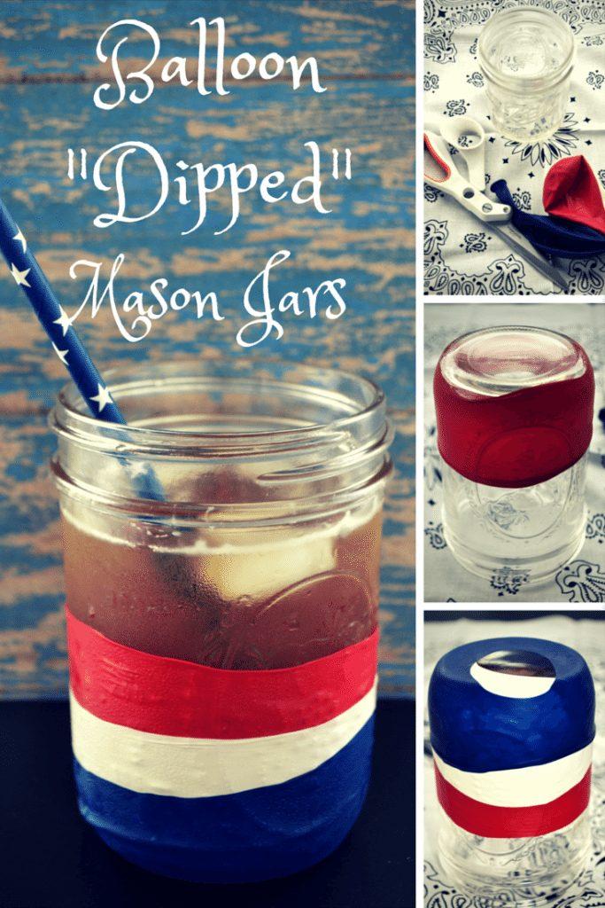 """DIY Balloon """"Dipped"""" Mason Jars"""