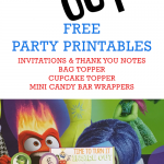 Inside Out Party Invitations, Cupcake Toppers, and More!