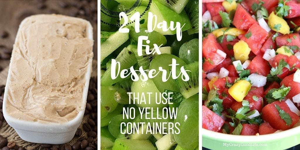 21 Day Fix Desserts That Use NO Yellow Containers!