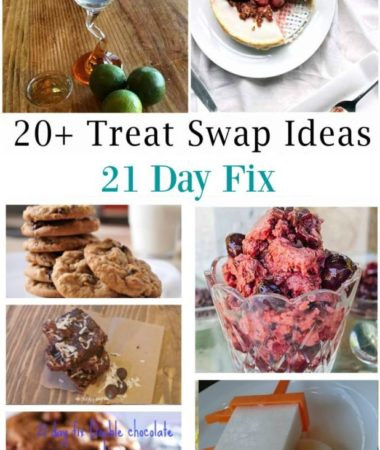 """Treats. They are the key to not feeling deprived on a """"diet,"""" but it's tough to find healthy replacements for your favorite treats. One of the things I love about the 21 Day Fix is that you can easily find healthier treats and swap them out for one of your yellow (carb) containers a few times a week. Treats can be alcohol, dark chocolate, and plenty of other options–remember the 21 Day Fix is teaching you how to make healthy choices, not placing tons of restrictions on your diet."""