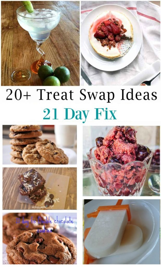 "Treats. They are the key to not feeling deprived on a ""diet,"" but it's tough to find healthy replacements for your favorite treats. One of the things I love about the 21 Day Fix is that you can easily find healthier treats and swap them out for one of your yellow (carb) containers a few times a week. Treats can be alcohol, dark chocolate, and plenty of other options–remember the 21 Day Fix is teaching you how to make healthy choices, not placing tons of restrictions on your diet."