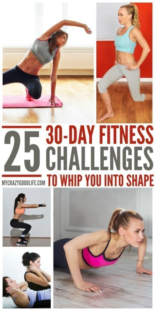 These 30 day challenge ideas will help whip you into shape for the new year! Is your New Year's resolution to lose weight? These 30 day fitness challenge options can help!