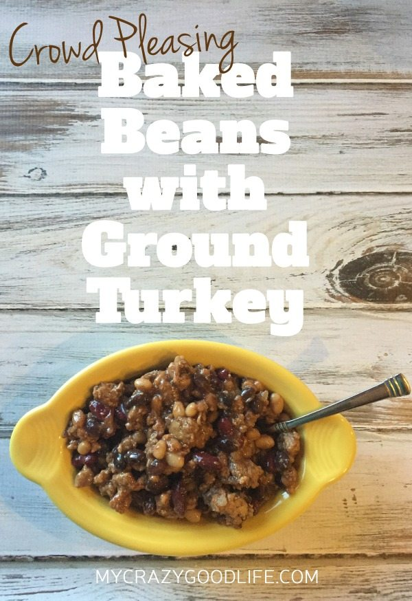 Crowd Pleasing Baked Beans with Ground Turkey
