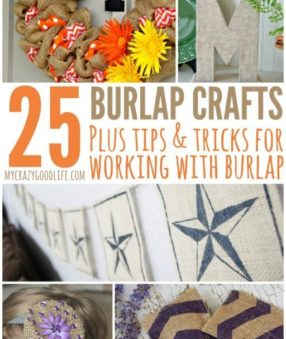 I think that burlap crafts can easily give your home a fun and relaxed holiday feel. From the time I made my first burlap wreath, I was hooked on the material. Here are some of my favorite burlap wreath crafts, as well as a few tips and tricks for working with burlap.