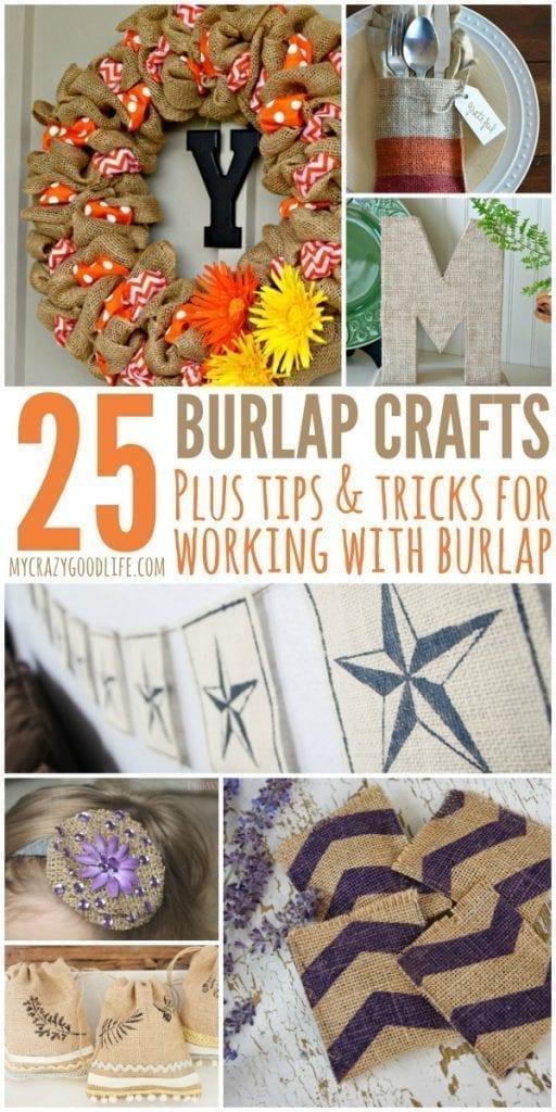 25 Burlap Crafts PLUS Burlap Tips & Tricks
