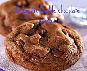 Double Chocolate Cookies as a 21 Day Fix Treat Swap