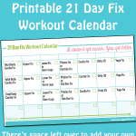 Printable 21 Day Fix Workout Calendar