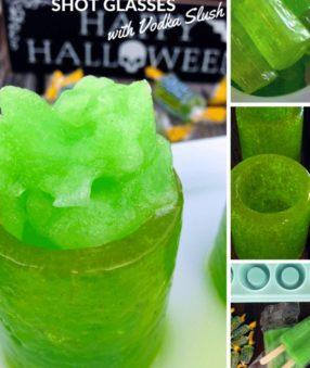 Hard Candy Shot Glasses with Vodka Slush Filling