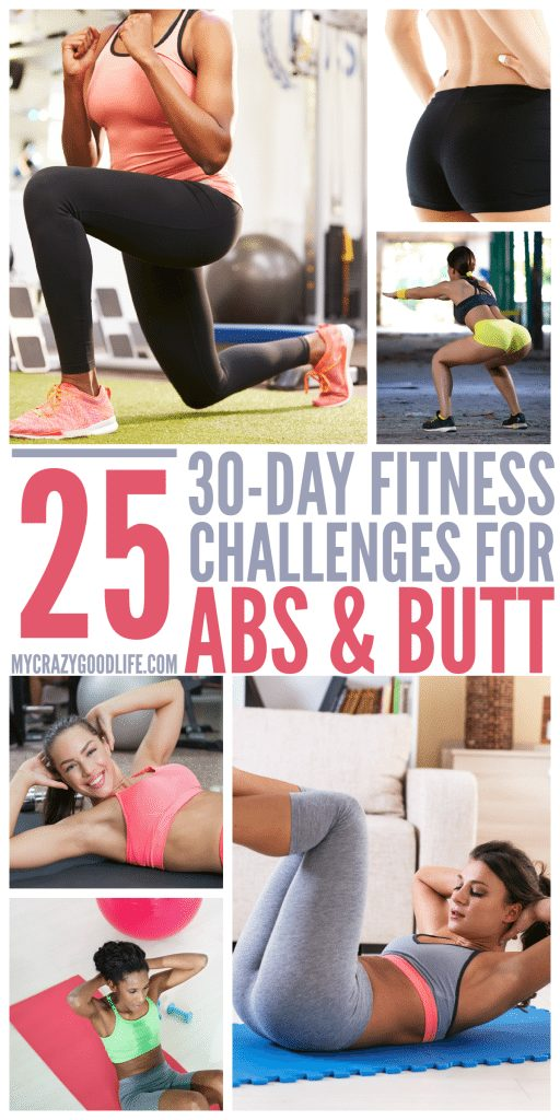 25 Different 30 Day Abs and Butt Workout Challenges