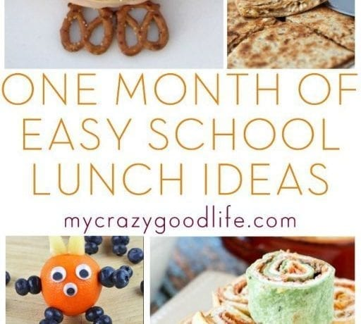 One Month of Easy School Lunch Ideas!