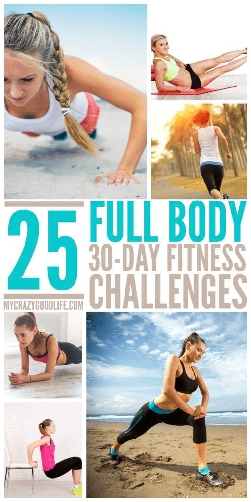 These killer workout challenges will whip you into shape fast! 25 Killer 30 Day Full Body Workout Challenges | 30 Day Challenge | Full Body Workout | Full Body Fitness Challenge