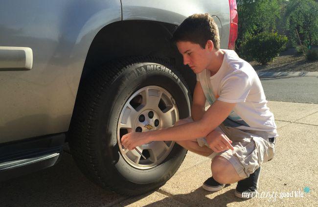 tips for beginner drivers - tire pressure
