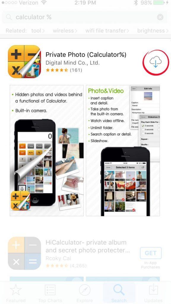 Calculator% app