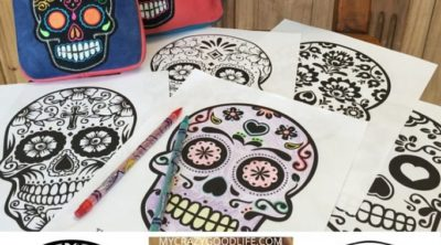Day of the Dead coloring pages and story